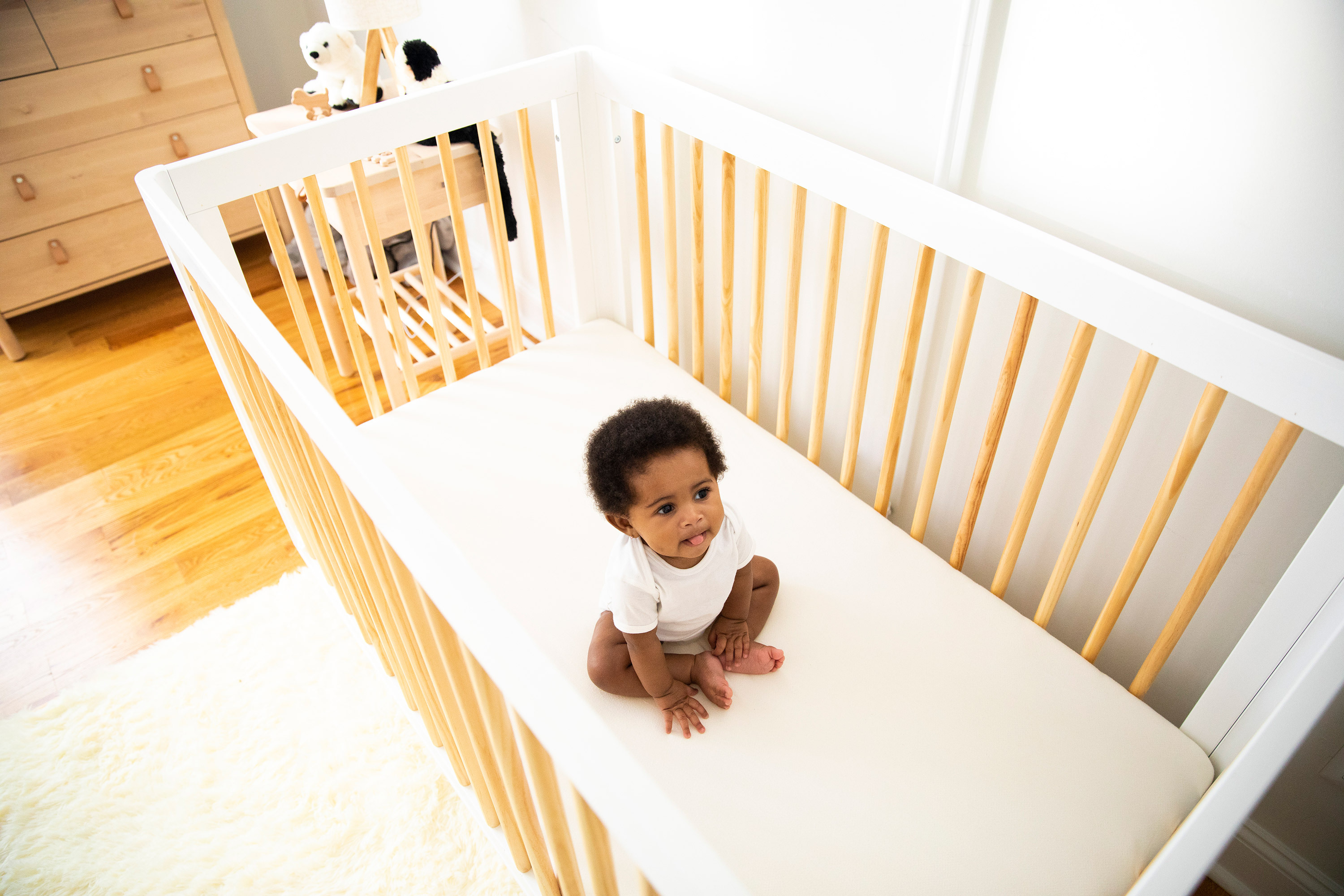 Child in crib